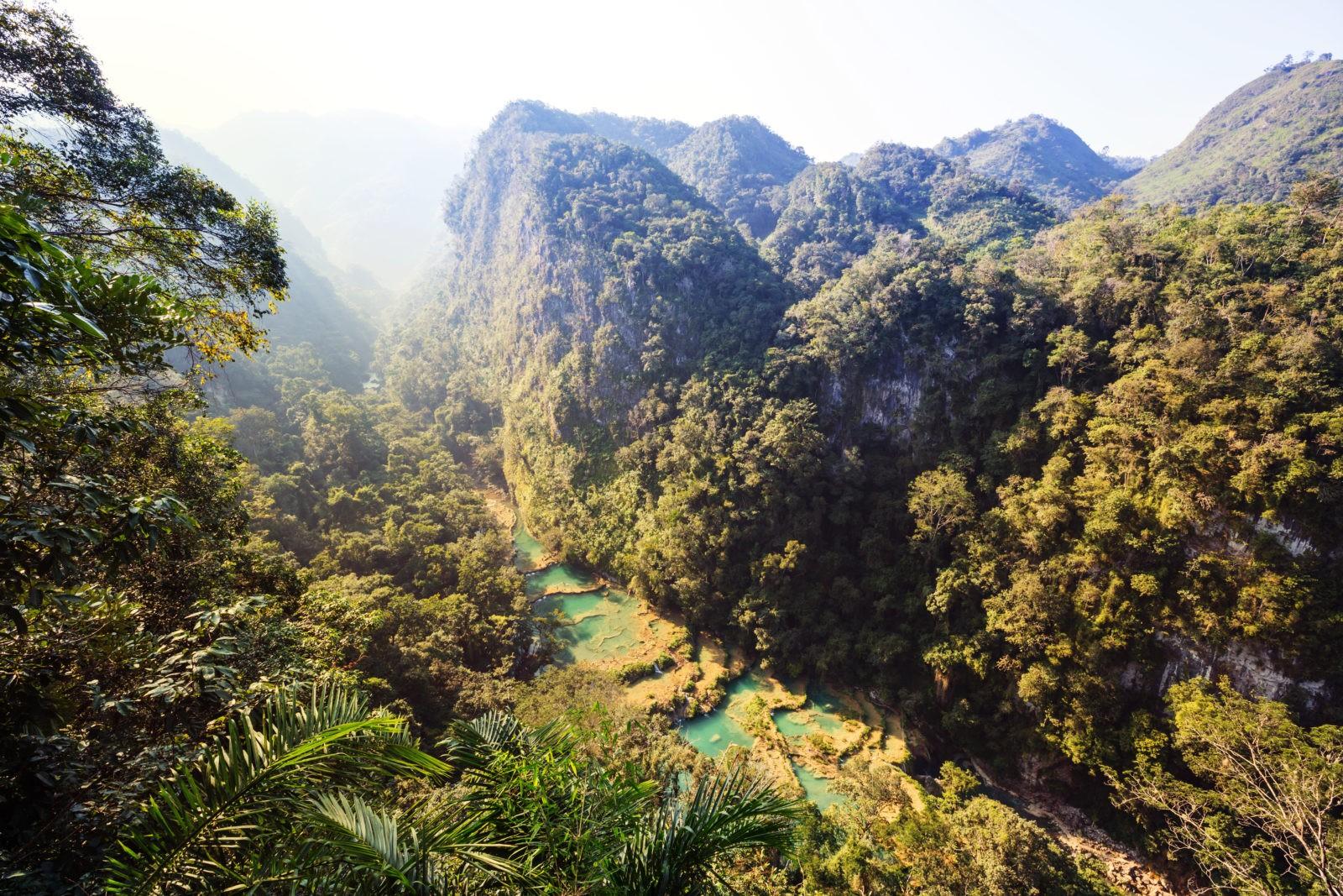 Viaje a Guatemala pozas en semuc champey